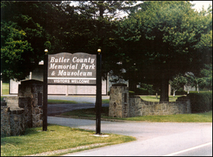 entrance to butler memorial park